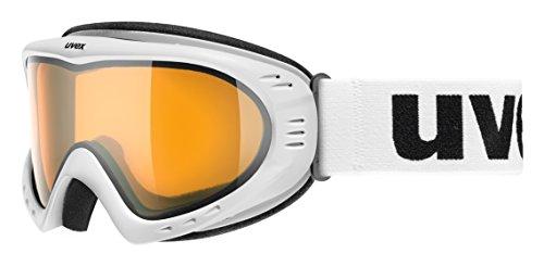 UVEX, Maschera da sci Cevron, Bianco (Polarwhite Mat), Taglia unica