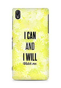 AMEZ i can and i will watch me Back Cover For Sony Xperia Z2