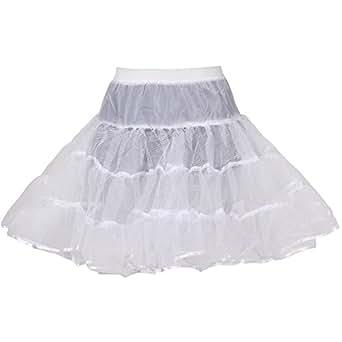 HIMRY Premium Design Jupon de Mariée en Crinoline, Taille Unique, Adéquat pour Taille 34, Taille 36, Taille 38, Taille 40, Taille 42, Taille 44. Blanc, KXB-0025 White