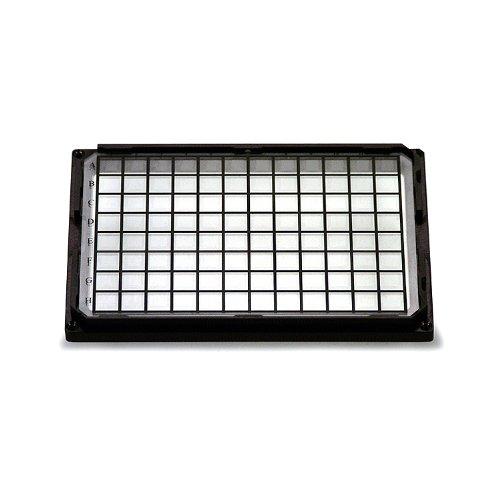 Whatman 7706-2370 Black Polystyrene 96 Wells Skirtless Glass Bottom Microplate, 300Microliter Volume
