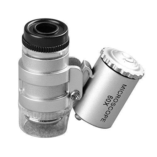 Beileshi 10081-4A 60X Jewelry Magnifier Led Illumination Mini Loupe Pocket Microscope