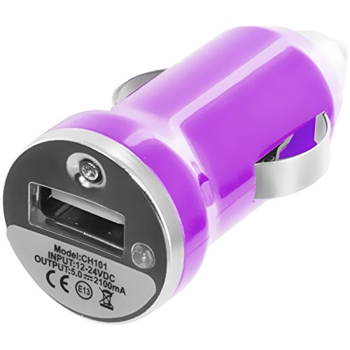 Cell Accessories For Less (Tm) Purple Car Charger (1.2A) + Bundle (Stylus & Micro Cleaning Cloth) - By Thetargetbuys