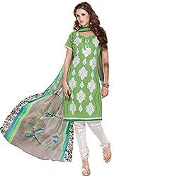 PARISHA Green Embroidered Un Stitched Chudidar Suit 4ASG5606