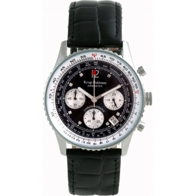 Krug-Baumen Mens Airmaster Diamond Black Watch