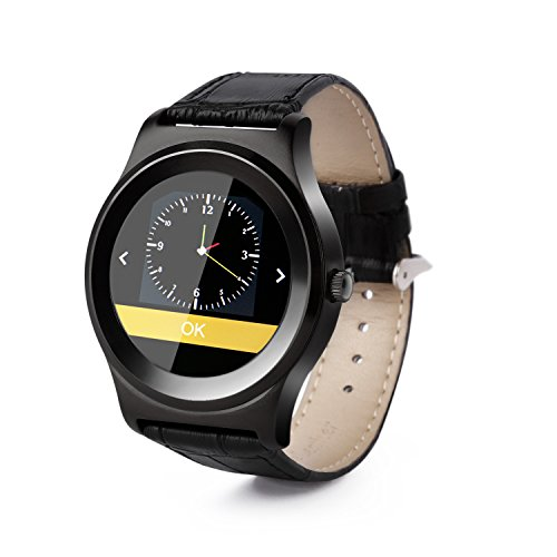 Heart Rate Monitor LESHP Activity Tracker Smart Watch Fitness Tracker with IOS Bluetooth Camera Music Stopwatch/Remote All-in-1 for iphone Android (Black)