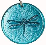 Dragonfly Suncatcher Teal Blue 100% Recycled Glass - Made in USA