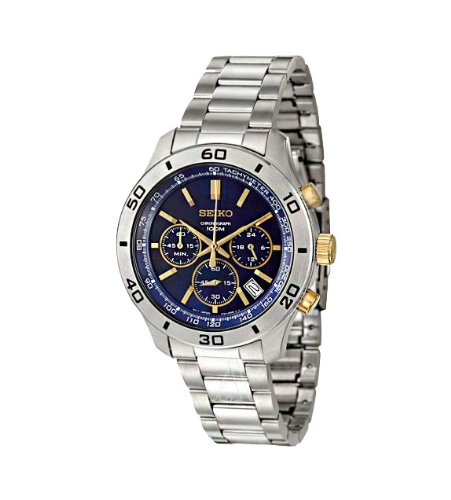 Seiko Chronograph With Date Steel Men'S Watch #Ssb055P1