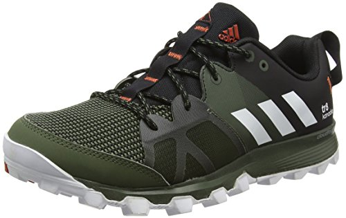 adidas Uomo Kanadia 8 Tr M scarpe da corsa, Nero (core Heather/ White/craft Chili), 42 EU