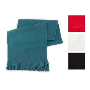 Fleece Scarf Fringed Tassel Warm Winter Mens Ladies Unisex Smart Dolomite (Black)