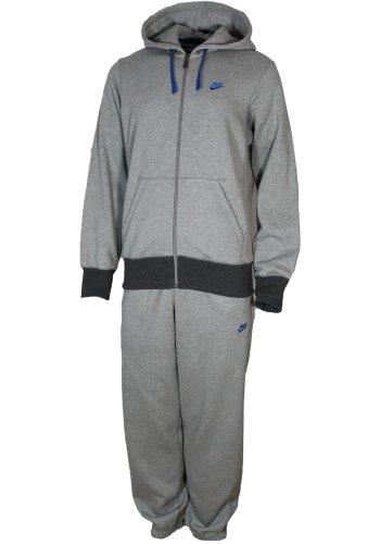 Nike Mens Grey Zip Hooded Sweatshirt Hoody Size S 063
