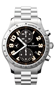Catorex Men's 8169-6 Chrono Sport Automatic Chronograph Brushed and Polished Steel Watch