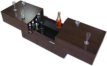 Berlioz Creations City Box Table Basse Wengé 123 x 51 x 43 cm
