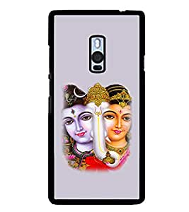 iFasho Siva Parvati and ganesh Back Case Cover for One Plus Two