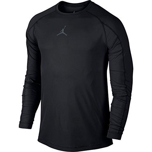 Nike Mens Jordan All Season Fitted Long Sleeve Training Shirt Black/Cool Grey 642406-010 Size Medium
