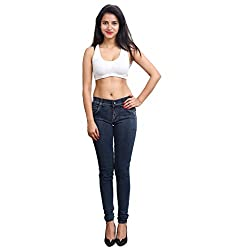 FNocks Women Slim Fit Jeans Black 28