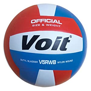 Buy Voit V5RWB Rubber Volleyball R W B by Voit