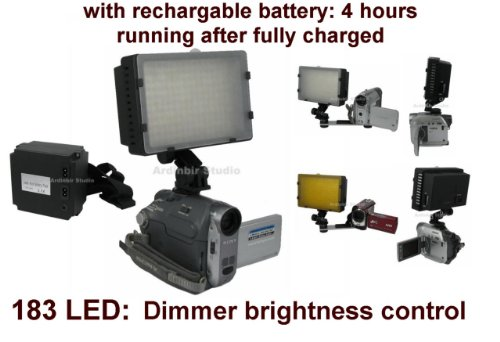 Video 520Lm Led Light With Rechargable Battery (4 Hours Running) For Canon Dc410, Dc310, Dc320, Dc330, Dc220, Dc100, Dc230, Dc210, Optura 20, 50, 40, 600, 300, 500, Xi, Pi, S1, Elura 100, 50, 60, Es8400V, Hr10