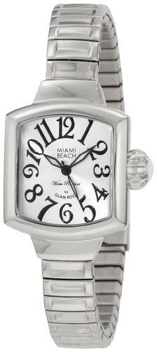 Glam Rock MBD27041 - Reloj para mujeres, correa de acero inoxidable color plateado