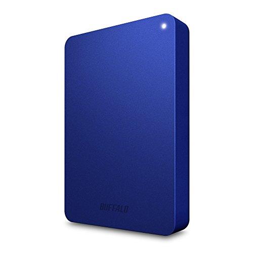 BUFFALO USB3.0接続 PC対応・TV録画対応 耐衝撃 フラットデザイン おでかけロック ポータブルHDD 1TB ブルー HD-PNF1.0U3-BL/N [フラストレーションフリーパッケージ(FFP)]