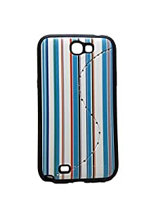 Iway Matte Leather Finish Diamond Soft Back Cover for Samsung Galaxy Note 2 N7100   Turquoise available at Amazon for Rs.105