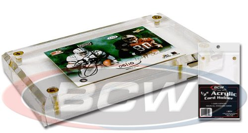 BCW - 1/2 Inch Acrylic Card Display or Holder with UV Protection - Ideal for Displaying Baseball & Other Sports Cards
