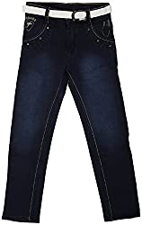 GOWRI MARKETING Boys' Regular Fit Jeans (AM00054_6-7 Years, Blue)