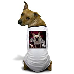 CafePress French Bulldog Mother Puppi Dog T-Shirt - M White [Misc.] made by CafePress