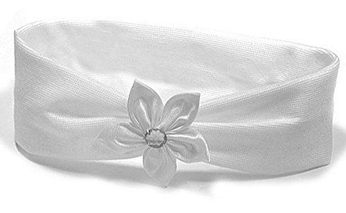 Bandeau-pour-les-Cheveux-Enfants-Textile-Blanc-Fleur