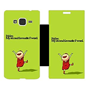 Skintice Designer Flip Cover with Vinyl wrap-around for Samsung Galaxy J3 (2016), Design - Friday