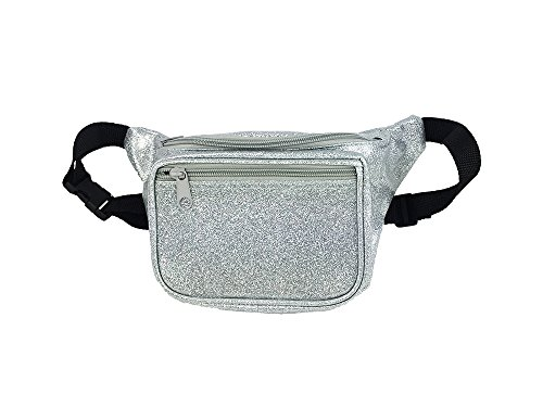 Metallic Silver Fanny Pack, Waist Bag For Parties And Concerts (Sparkle Silver) (Pattern Fanny Pack compare prices)