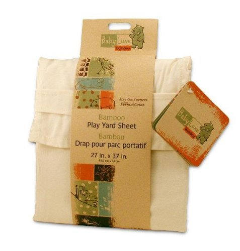 "Baby Luxe Bamboo Play Yard Sheet 27 ""x 37 "" - 1"