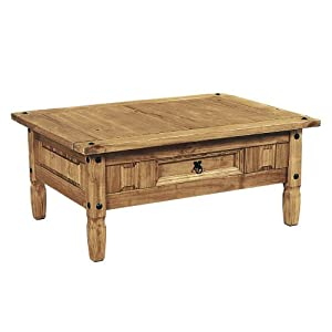 Aztec Corona Mexican Pine Coffee Table Kitchen Home