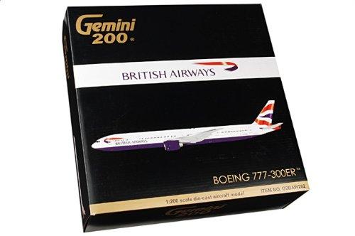 1:200 ジェミニジェット 200 G2BAW282 ボーイング 777-300ER ダイキャスト モデル ブリティッシュ 航空 G-STBC【並行輸入品】