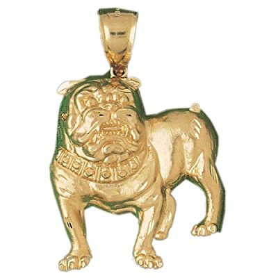CleverEve 14K Gold Pendant Bulldog 13.7 Grams