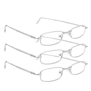 Lightweight Full Frame Reading Glasses : Amazon.com : 3 Pairs Ultra Light Folding Full Frame ...