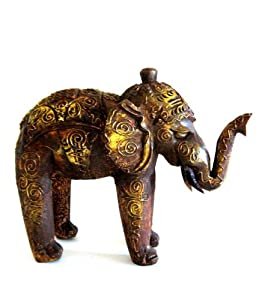 Elephant Statue Elephant Decor Trunk Up Lucky