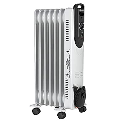 Homegear Oil Filled Radiator Heater with Dual Heat Settings (1500W/750W)
