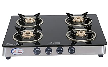 Glass Gas Cook Top Sleek Deluxe (4 Burner)