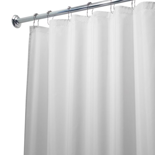 Interdesign 96 Inch Fabric Waterproof Extra Long Shower Curtain