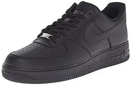 Nike Men\'s Air Force 1 \'07 Black/Black Basketball Shoe 12 Men US