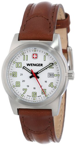 Wenger-Womens-72820-Stainless-Steel-Watch-with-Brown-Leather-Band