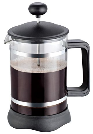 French Coffee Press (3-Piece-Black) - 34 oz, Espresso and Tea Maker with Triple Filters, Stainless Steel Plunger and Heat Resistant Glass - By Utopia Kitchen (34 Oz French Press compare prices)