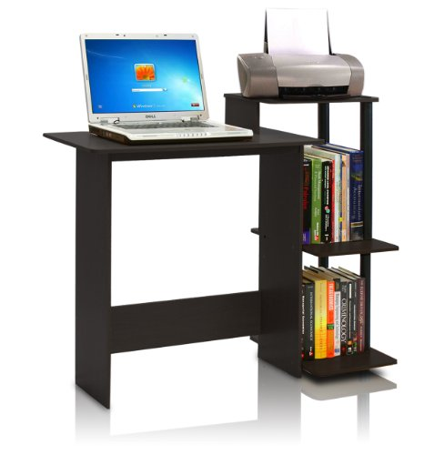 Furinno 11192EX/BK Efficient Computer Desk, Espresso/Black (Espresso Desk Small compare prices)