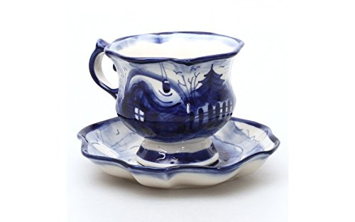 Frost Teacup w/ Saucer. 5 Fl Oz, Porcelain, Hand-made