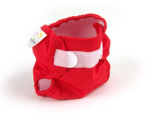 Real Nappies Snug Wrap Diaper Cover, Red, Toddler Size, For Babies 18+ Months, 29-40 Lb front-42664