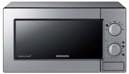 Samsung ME71M/XEG Mikrowelle / 20 L  / 800 W  / Edelstahl / Keramik Emaille / mechanische Steuerung