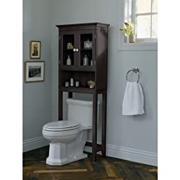Fieldcrest etagere space saver over the toilet cabinet armoire from target shelves bathroom for Black over the toilet bathroom space saver