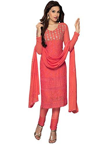 Whatshop Women's Fashionable Bollywood Salwar Kameez Buy Online Free Size Red