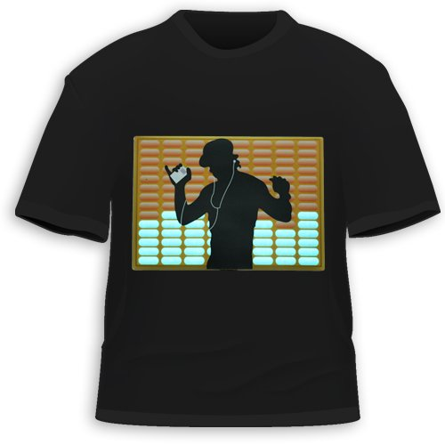 HDE Sound Activated LED T-Shirt - 30+ Styles - M - Dance