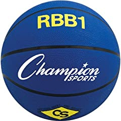Buy Champion Sports RBB4 Intermediate Rubber Outdoor Basketball (28.5) by Champion Sports